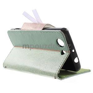Zapinací pouzdro s mašličkou na Sony Xperia Z3 Compact - azurové - 4