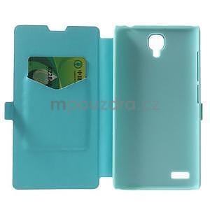PU kožené pouzdro na Xiaomi Hongmi Note - světle modré - 4