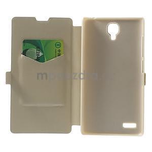 PU kožené pouzdro na Xiaomi Hongmi Note - champagne - 4