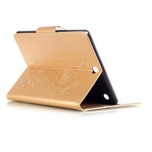 Butterfly PU kožené pouzdro na Samsung Galaxy Tab A 9.7 - zlaté - 4