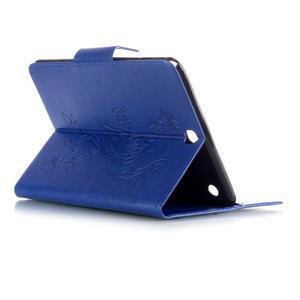Butterfly PU kožené pouzdro na Samsung Galaxy Tab A 9.7 - modré - 4