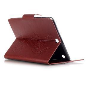 Butterfly PU kožené pouzdro na Samsung Galaxy Tab A 9.7 - hnědé - 4