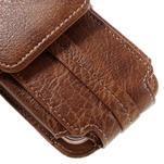 Cestovní PU kožené peněženkové pouzdro do rozměru 150 x 73 x 15 mm - hnědé - 4/7