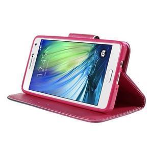 Emotive PU kožené pouzdro na mobil Samsung Galaxy A5 - srdce - 4