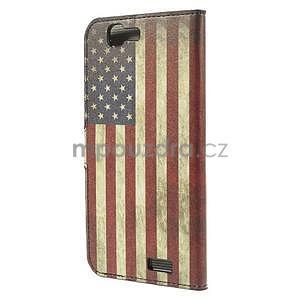 Peněženkové pouzdro Huawei Ascend G7 - vlajka USA - 4