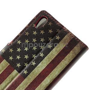 Peněženkové pouzdro na Huawei Ascend P6 - USA vlajka - 4