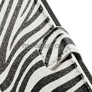 Peněženkové pouzdro na Huawei Ascend P6 - zebra - 4