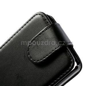 Flipové pouzdro na Huawei Ascend P6 - černé - 4