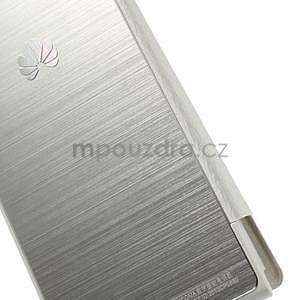 PU kožené pouzdro s okýnky na Huawei P6 - bílé - 4