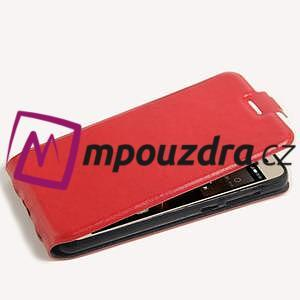 Flipové PU kožené pouzdro na Huawei Y5 II - červené - 4