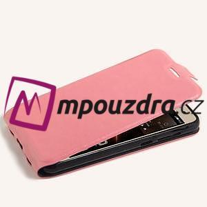 Flipové PU kožené pouzdro na Huawei Y5 II - růžové - 4
