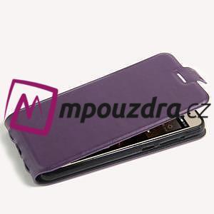 Flipové PU kožené pouzdro na Huawei Y5 II - fialové - 4