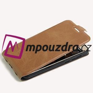 Flipové PU kožené pouzdro na Huawei Y5 II - hnědé - 4