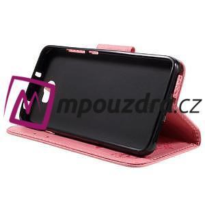 Butterfly PU kožené pouzdro na mobil Huawei Y5 II - růžové - 4