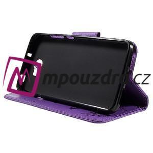 Butterfly PU kožené pouzdro na mobil Huawei Y5 II - fialové - 4