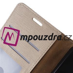 Clothy peněženkové pouzdro na Huawei Y5 II - zlaté - 4