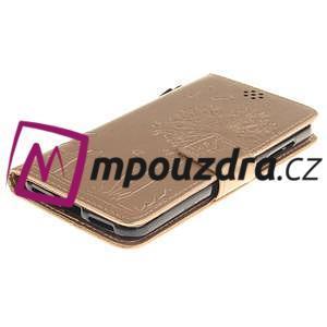 Dandelion PU kožené pouzdro na Huawei Y5 II - zlaté - 4