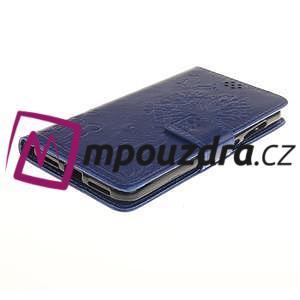Dandelion PU kožené pouzdro na Huawei Y5 II - modré - 4