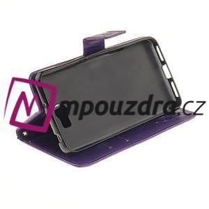Dandelion PU kožené pouzdro na Huawei Y5 II - fialové - 4