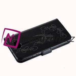 Motýlí peněženkové pouzdro na Huawei Y5 II - černé - 4