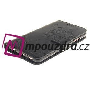 Dandelion PU kožené pouzdro na Huawei Y6 II a Honor 5A - černé - 4