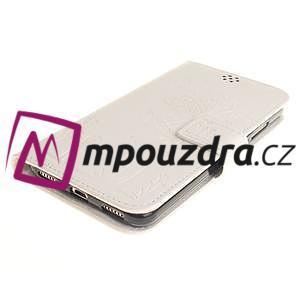 Dandelion PU kožené pouzdro na Huawei Y6 II a Honor 5A - bílé - 4