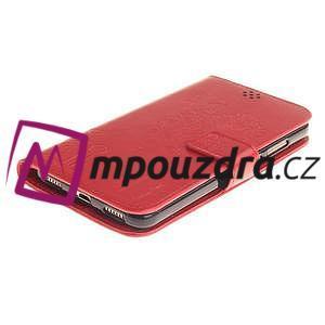 Dandelion PU kožené pouzdro na Huawei Y6 II a Honor 5A - červené - 4