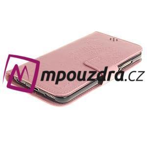 Dandelion PU kožené pouzdro na Huawei Y6 II a Honor 5A - růžové - 4
