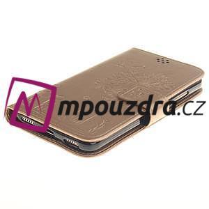Dandelion PU kožené pouzdro na Huawei Y6 II a Honor 5A - zlaté - 4