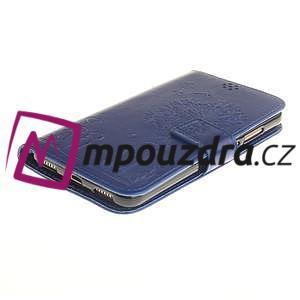 Dandelion PU kožené pouzdro na Huawei Y6 II a Honor 5A - modré - 4