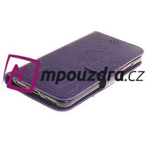 Dandelion PU kožené pouzdro na Huawei Y6 II a Honor 5A - fialové - 4
