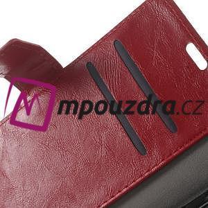 Horses PU kožené pouzdro na Huawei Y6 II Compact - červené - 4