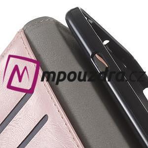 Horses PU kožené pouzdro na Huawei Y6 II Compact - růžové - 4