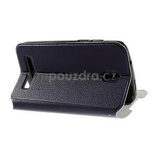 Flipové PU kožené pouzdro na HTC Desire 500 - tmavě fialové - 4