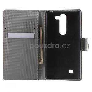 Pěněženkové pouzdro na LG G4c H525n - zebra - 4