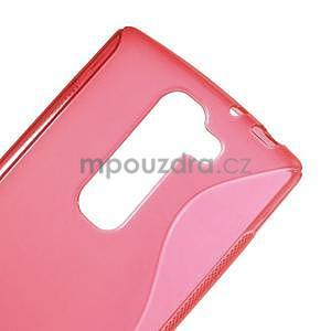 Červený gelový obal S-line na LG G4c H525n - 4