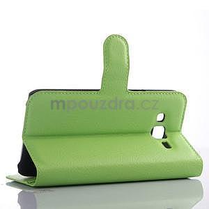 Zelené zapínací peněženkové pouzdro na Samsung Galaxy J5 - 4
