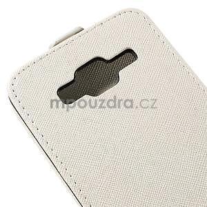 Flipové pouzdro na Samsung Galaxy J5 - bílé - 4