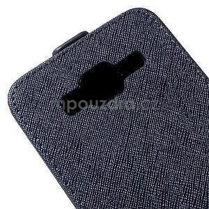 Flipové pouzdro na Samsung Galaxy J5 - tmavě modré - 4