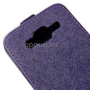 Flipové pouzdro na Samsung Galaxy J5 - fialové - 4
