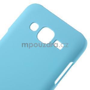 Světle modrý pogumovaný plastový kryt na Samsung Galaxy J5 - 4