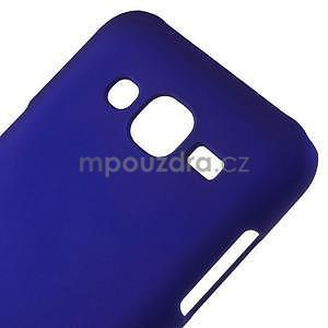 Tmavě modrý pogumovaný plastový kryt na Samsung Galaxy J5 - 4