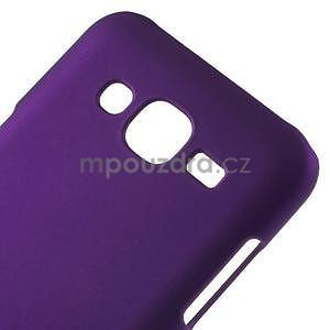 Fialový pogumovaný plastový kryt na Samsung Galaxy J5 - 4