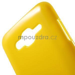 Žlutý gelový kryt pro Samsung Galaxy J5 - 4