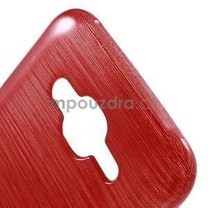 Broušený gelový obal na Samsung Galaxy J5 - červený - 4