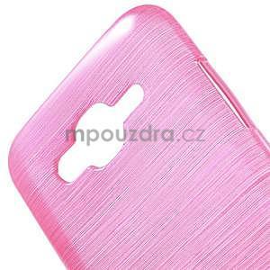 Broušený gelový obal na Samsung Galaxy J5 - rose - 4