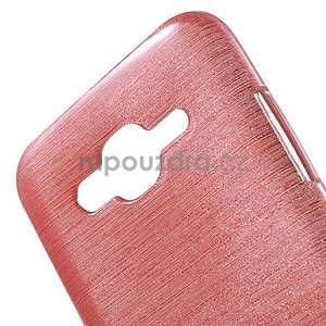 Broušený gelový obal na Samsung Galaxy J5 - růžový - 4