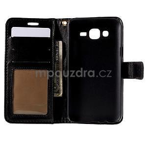 PU kožené pouzdro s imitací krokodýlí kůže Samsung Galaxy J5 - černé - 4