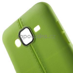 Gelový kryt se švy na Samsung Galaxy J5 - zelený - 4
