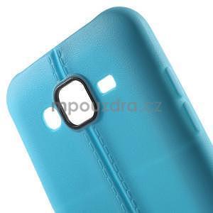 Gelový kryt se švy na Samsung Galaxy J5 - světle modrý - 4